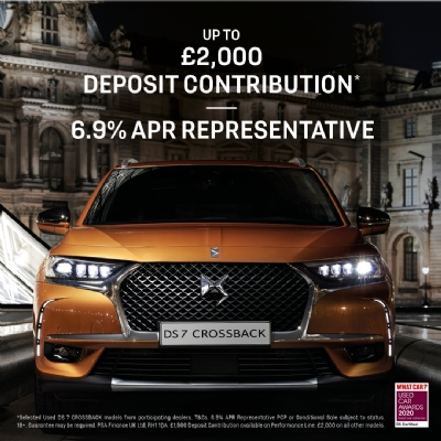 DS Certified - Up to £2000 Deposit Contribution.  6.9% APR