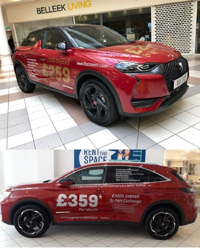 DS 7 CROSSBACK and DS 3 CROSSBACK in Erneside Shopping Centre